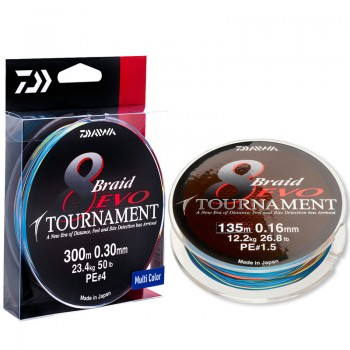 Daiwa Tournament 8 Braid Evo Multi 300m
