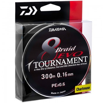 Daiwa Tournament 8 Braid Evo Green 135m