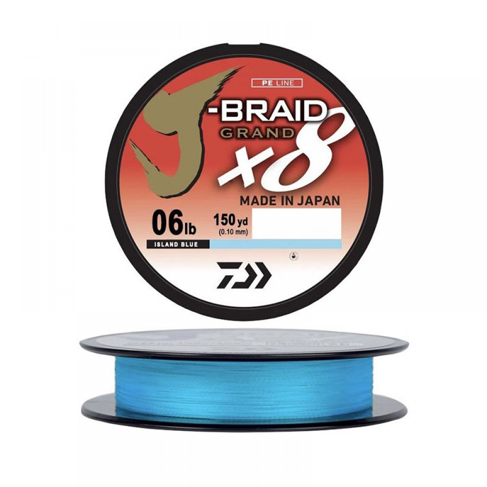 Daiwa J-Braid Grand X8 Light Blue 135m