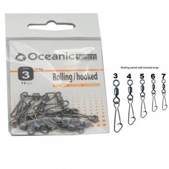 Oceanic Rolling Hooked Snap