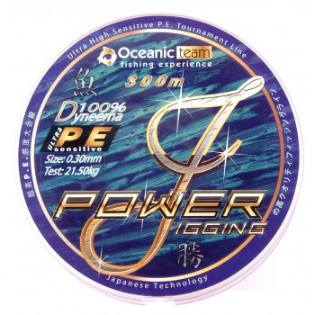 Oceanic Power Jigging Dyneema 300m 4-Braid Green