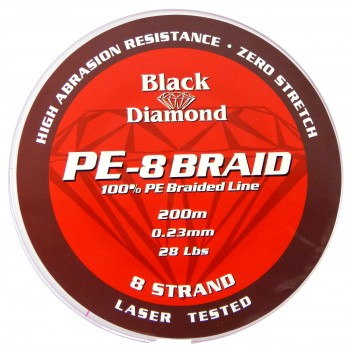 Black Diamond Red 8 Braid 200m
